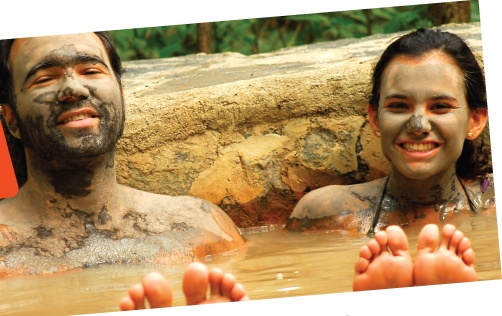 Hot spring mud baths at Hacienda Guachipelin