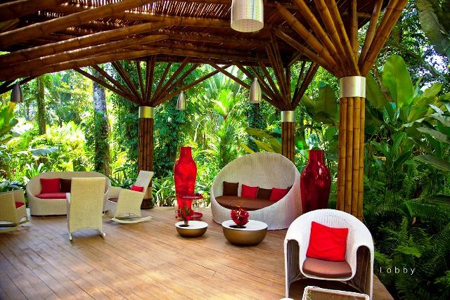 Hotel Le Cameleon lobby Costa Rica