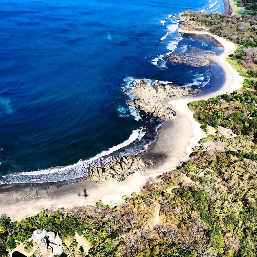 Playa Pelada, Nosara from the air