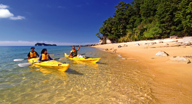 Sea kayaking off Costa Rica Caribbean Coast