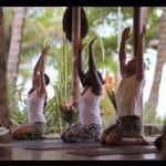 Yoga on the beach at Santa Teresa Hotel Tropico Latino