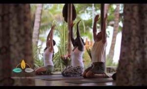 Yoga on the beach at Santa Teresa Hotel Tropico Latino