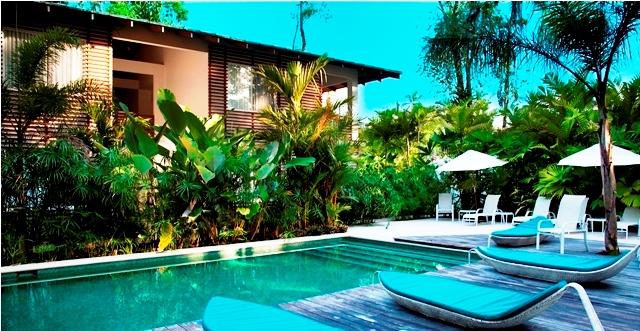 Le Cameleon Hotel pool, Caribbean, Costa Rica