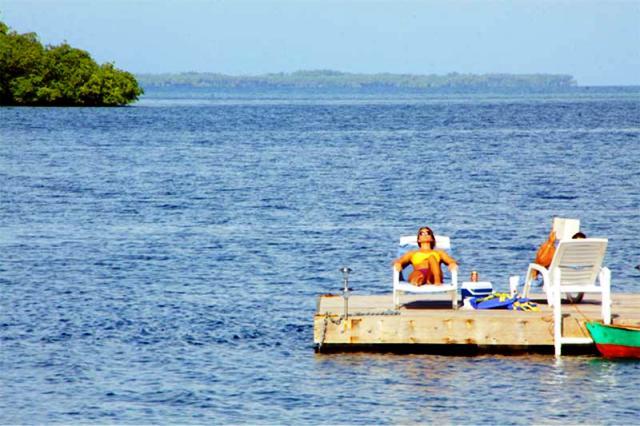 Sun deck at Laguna Azul hotel, Bocas del Toro