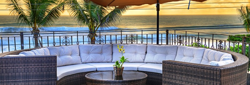 Sunset lounge terrace at Hotel Tramonto, Playa Hermosa, Costa Rica