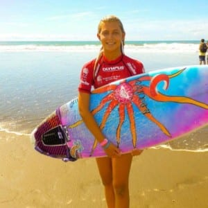 Surfer Leilani McGonagle of Costa Rica, image from FB