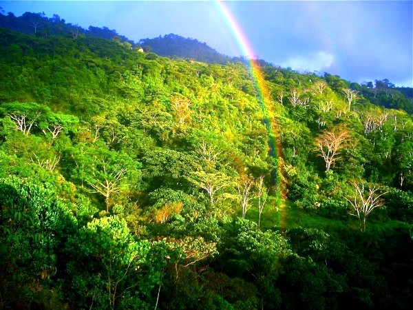 Costa Rica rainy season rainbow