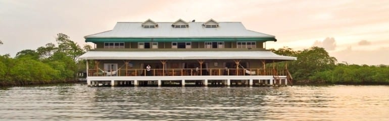 Visiting a private tropical Caribbean island at Hotel Laguna Azul, Bocas del Toro Panama