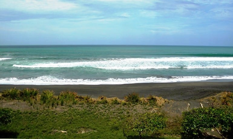 Top surfing beach Playa Hermosa in Jaco Costa Rica is both beautiful and uncrowded