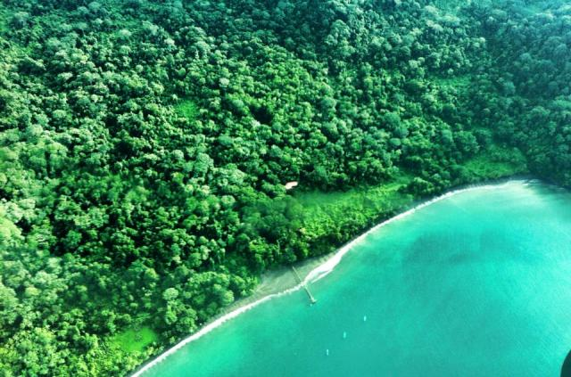 Playa Nicuesa Rainforest Lodge property from the air