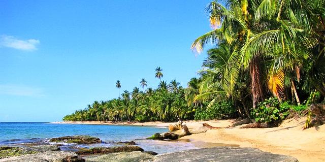 Caribbean beach Southern Costa Rica