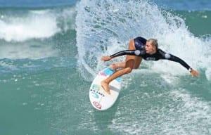 Costa Rica surfer Leilani McGonagle at championships in Brazil 2015