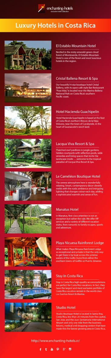 Meet our Luxury Enchanting Hotels in Costa Rica