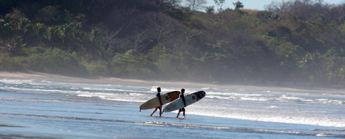 Surfing Nosara, Costa Rica