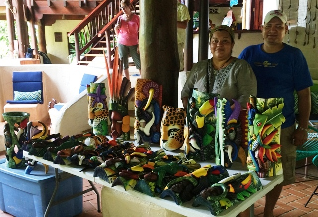Boruca masks at Cultural festival at Nicuesa Lodge in Costa Rica