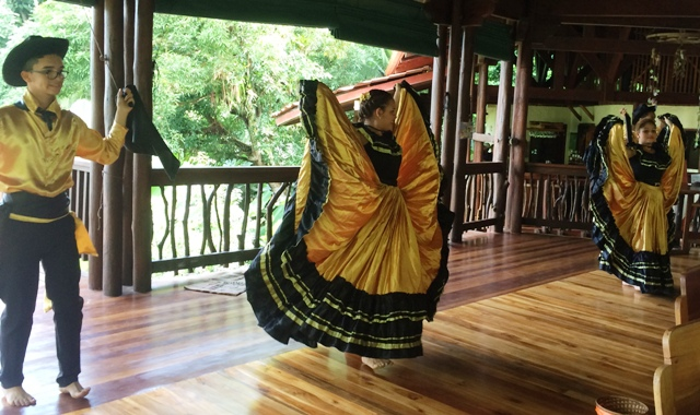 Folk dancers at Cultural festival at Nicuesa Lodge in Costa Rica