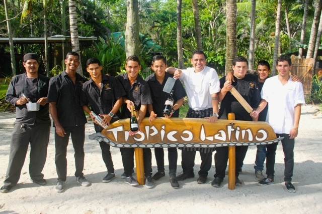 Hotel Tropico Latino restaurant team in Santa Teresa Costa Rica