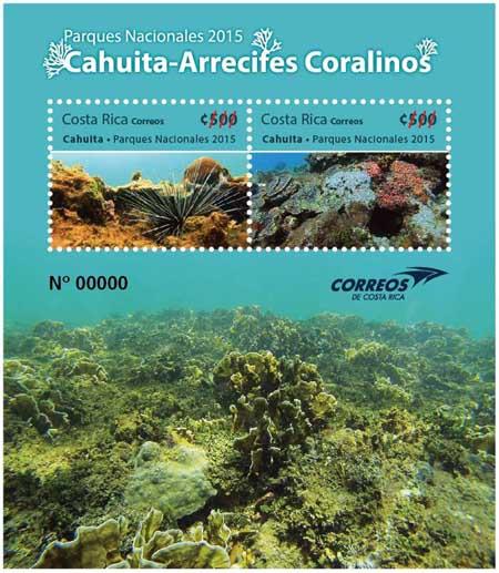 Costa Rica national stamp honoring Cahuita National Park