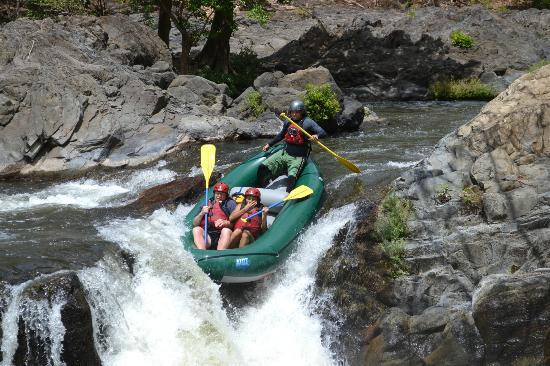Playa del Coco tours whitewater rafting Tenorio River