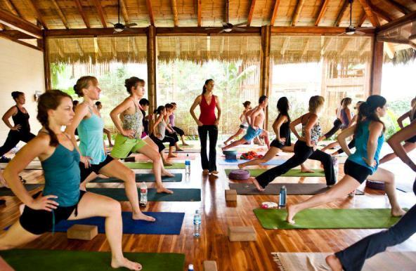 Yoga class by Nancy Goodfellow at Pranamar Villas in Santa Teresa, Costa Rica