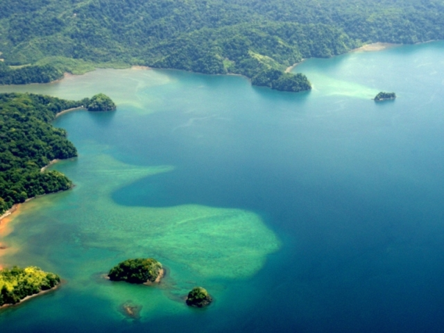 Golfo Dulce Costa Rica from the air