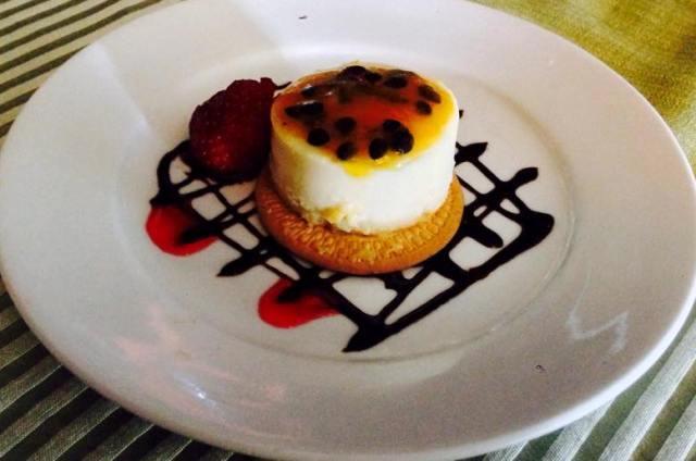 Laggus Restaurant El Establo Hotel, passionfruit cheesecake