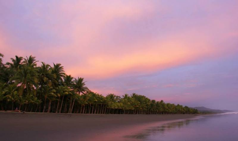 Matapalo Beach at sunrise in Costa Rica