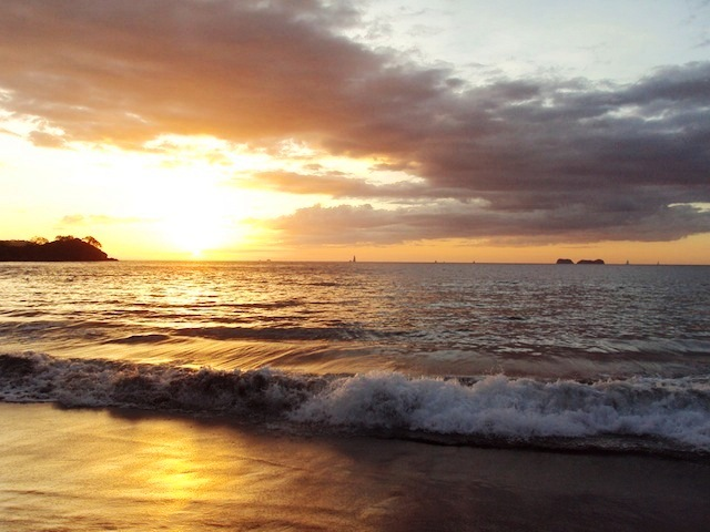 Playa Prieta Guanacaste Costa Rica sunset