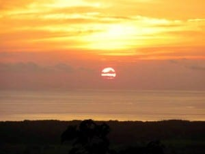 Portasol Rainforest Community sunset