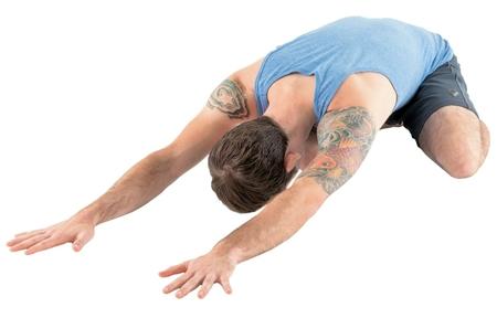 Yoga pose Child's Pose, image by Yoga Journal