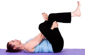 Yoga pose Thread the Needle