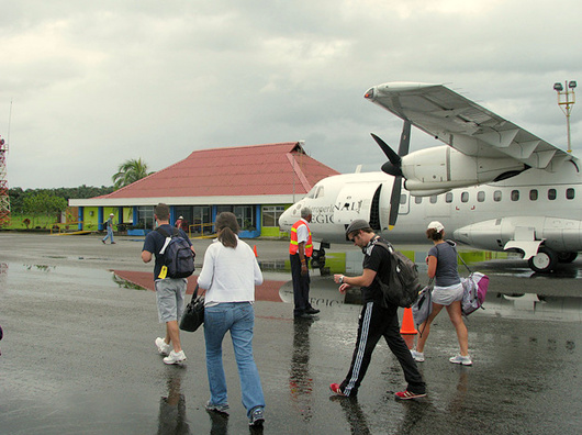 Limon airport Costa Rica passengers on Sansa Airlines