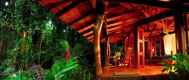 Playa Nicuesa luxury bungalow in rainforest