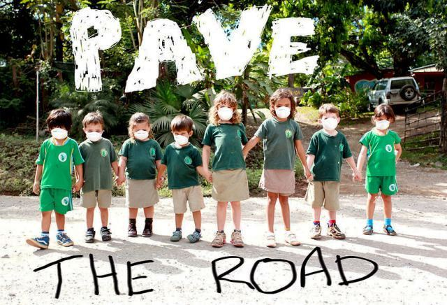 Santa Teresa Costa Rica gets clean air with Pave the Road Costa Rica