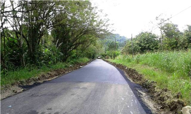 Road repairs on the way to Veragua Rainforest in Limon, Costa Rica