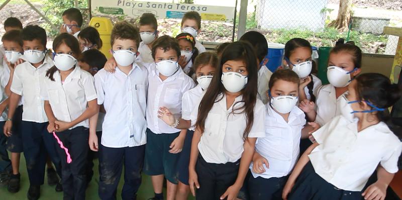 Santa Teresa Costa Rica region schoolchildren