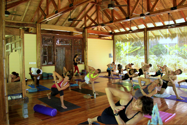 Yoga class at Pranamar Villas in Santa Teresa, Costa Rica