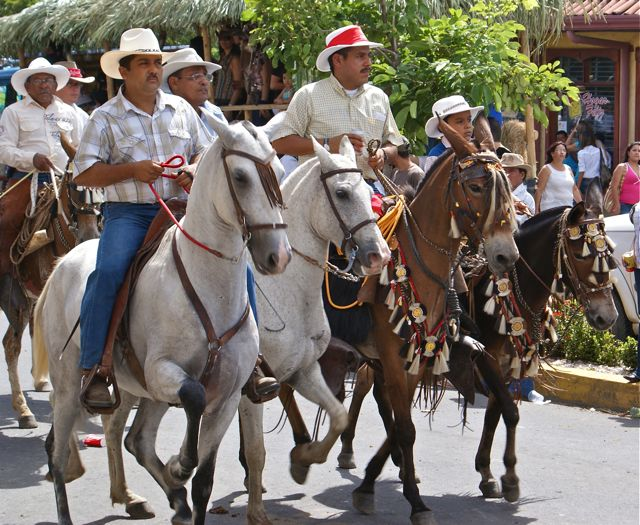 Fiestas Costa Rica traditional horse parade
