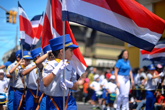 Juan Santamaria Day parade, image by Tico Times