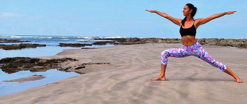 Yoga instructor Nancy Goodfellow, Pranamar Villas, Santa Teresa, Costa Rica