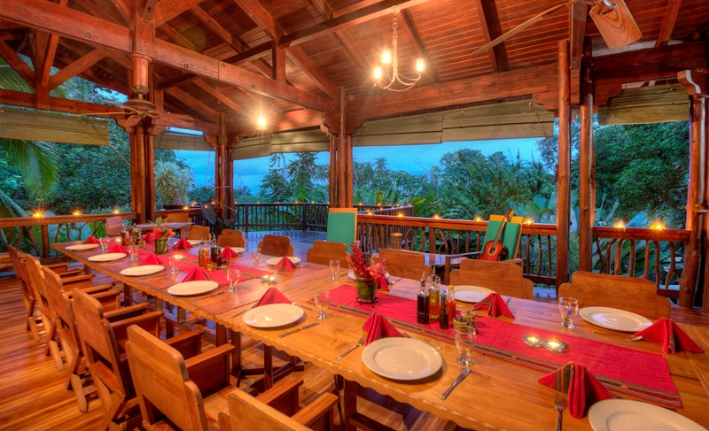 Dining room at Playa Nicuesa Rainforest Lodge