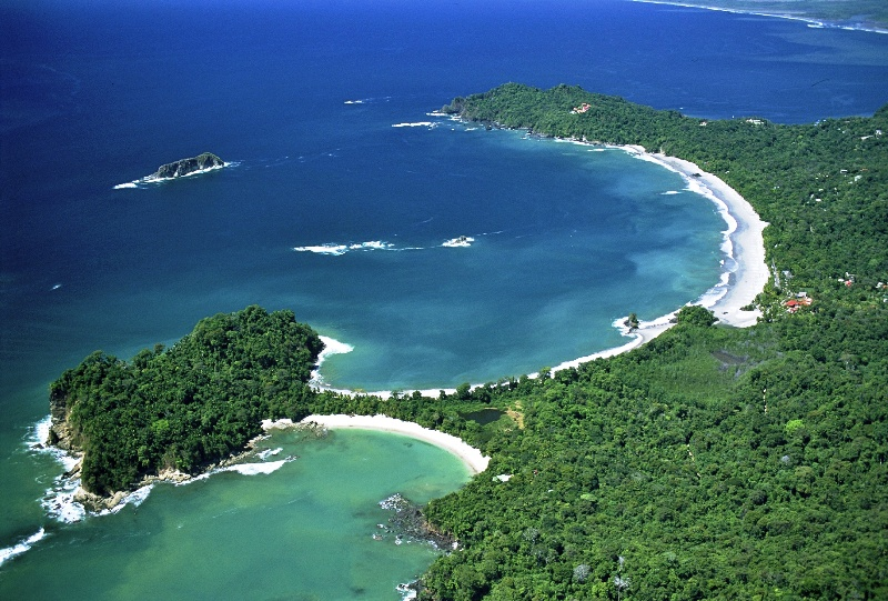 Aerial view of Manuel Antonio National Park, Costa Rica.
