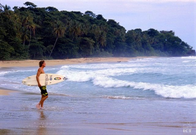 Playa Cocles surfing, Caribbean Costa Rica