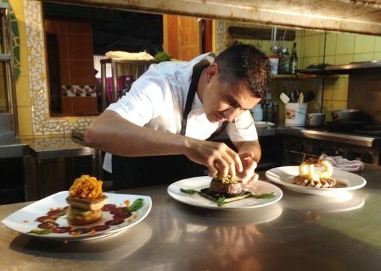Chef Randy Siles at Hotel Tropico Latino in Santa Teresa Costa Rica