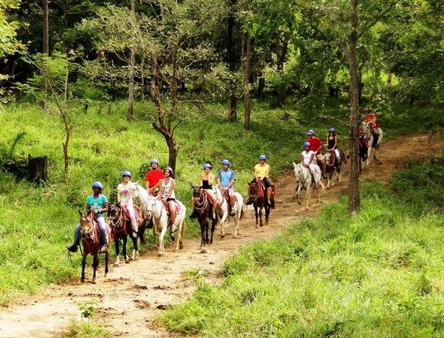 Horse tours at Hacienda Guachipelin Hotel, Costa Rica