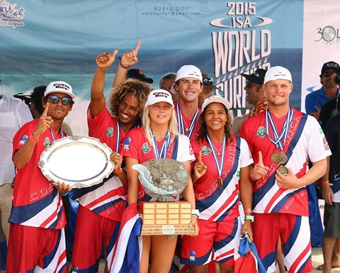 Costa Rica Surfing Team 2015 world champions, photo by Alfredo Barquero
