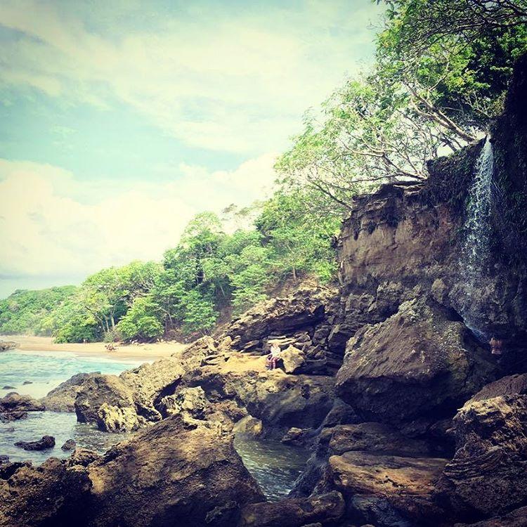 El Chorro Waterfall on Cocolito Beach in Montezuma