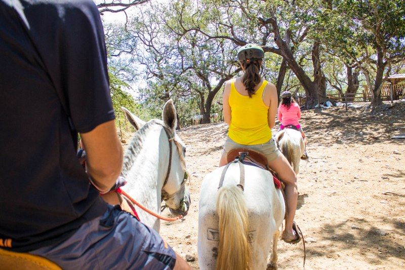 Horse riding tours at Hacienda Guachipelin in Costa Rica