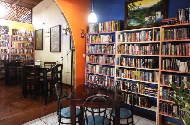 Friendship Library at La Carreta Restaurant in Atenas Costa Rica