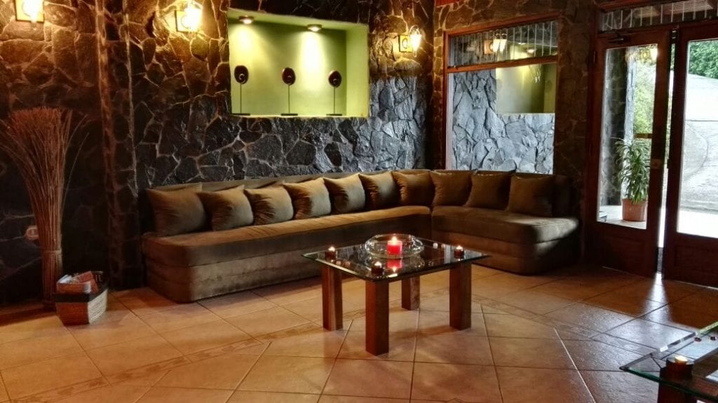 Reception Area at Green Leaf Spa, El Establo Mountain Hotel